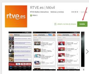 Imagen de App de RTVE