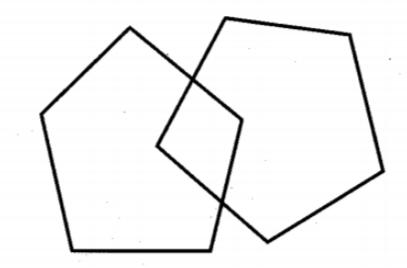 Dibujo de pentágonos entrelazados